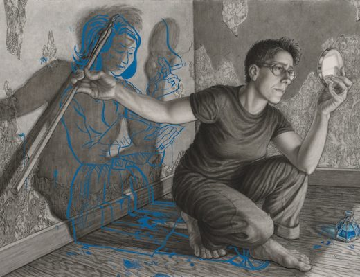 Riva Lehrer's portrait of lesbian cartoonist Alison Bechdel (Image courtesy of the National Portrait Gallery)