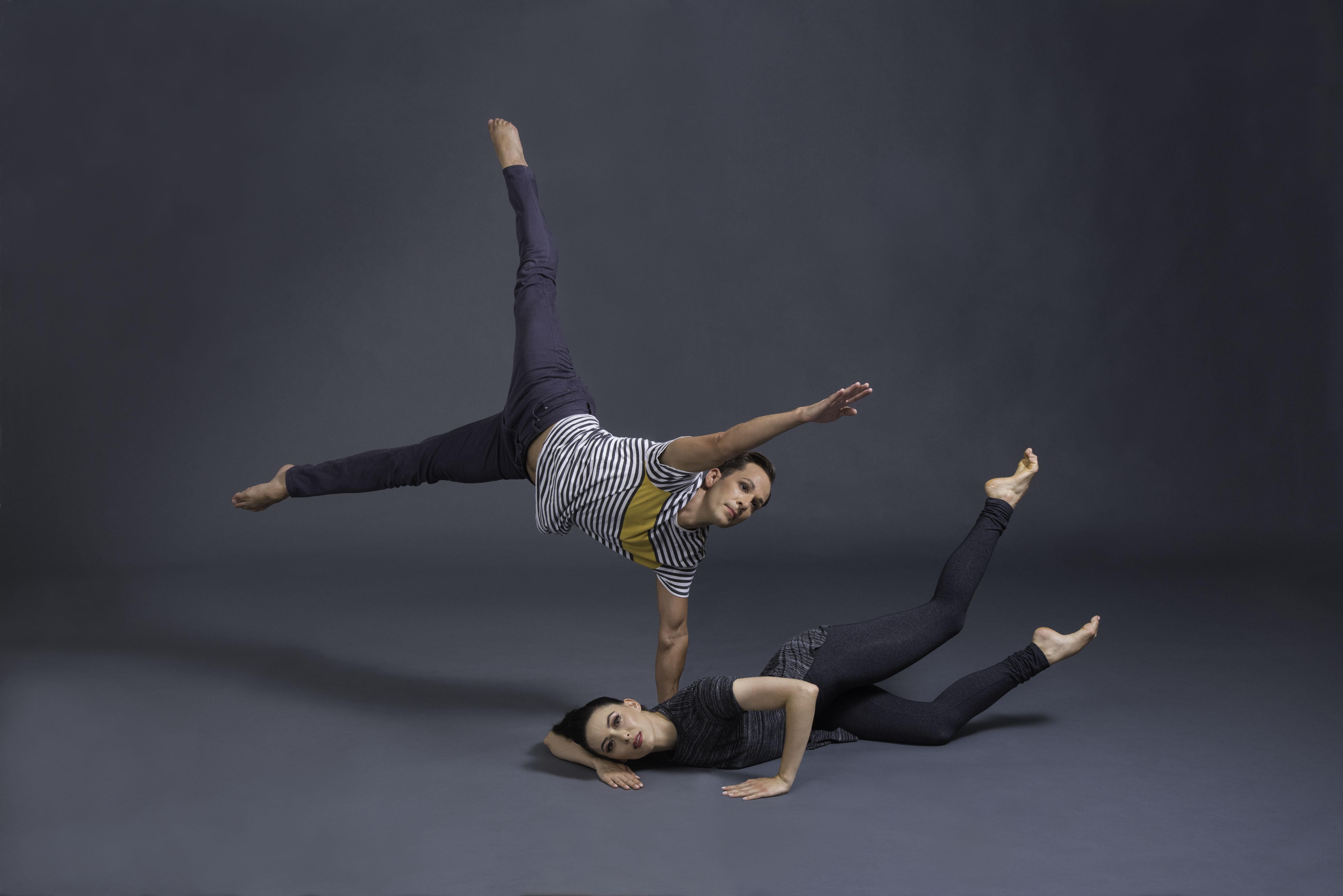 two dancers posing